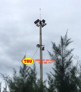 Lắp Đặt Kim Thu Sét Trên Cột Đèn Cao 20m