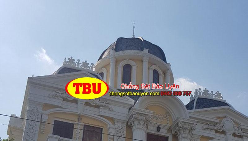 Thi công chống sét tòa nhà biệt thư tại Nam Định của chống sét Bảo Uyên